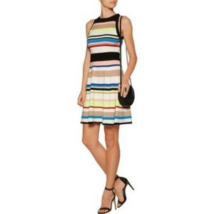 Milly Striped Fit and Flare Knit Dress- Sz M